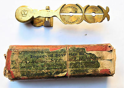 NO RESERVE Victorian Brass Sovereign Coin Scales Vintage Antique