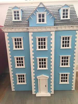Dolls House - 4 Storey Victorian - With Furniture And Dolls