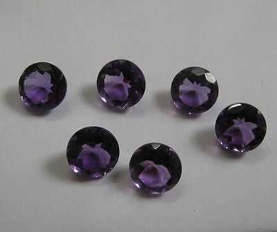 Lot of 10 Piece Natural Amethyst 6X6 MM Round Cut Faceted Loose Gemstone