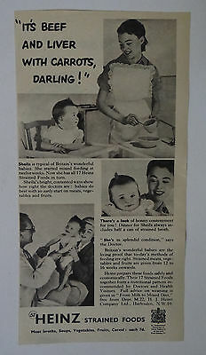 Old Advert Heinz Baby Food 1952