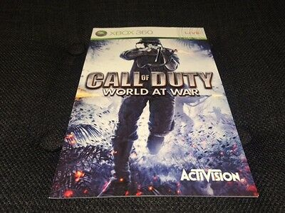 Call of Duty World at War (XBOX 360 Manual Only) FREE POSTAGE