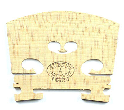 Aubert Mirecourt Aged Maple Uncut Violin Bridge (42mm) - 4/4 Size Made in France