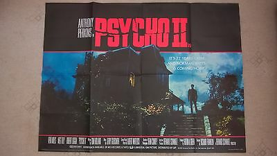 Psycho 2.   1983 Original Uk Quad Poster .30 X 40 Inches