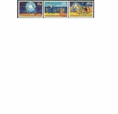 Cocos Islands 1980 CHRISTMAS(3) Unhinged Mint SG50-52