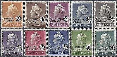 Christmas Island 1958 QUEEN ELIZABETH FIRST SET (10) UNHINGED MINT, SG 1-10