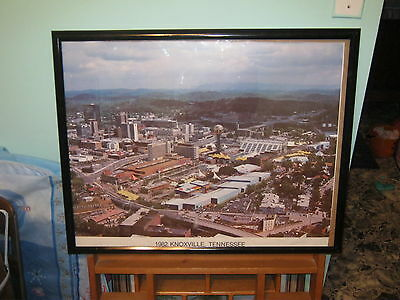 """Vintage World's Fair Poster 1982 Knoxville, TN. Aerial View 23"""" x 30""""."""