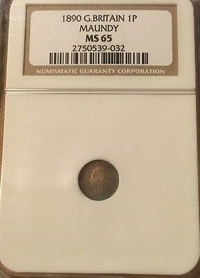 PENCE 1890 NGC MS65 MAUNDY Great Britain