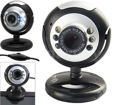 UK 50.0M USB 6 LED Video Camera Webcam With Mic Microphone For PC Laptop V6C9