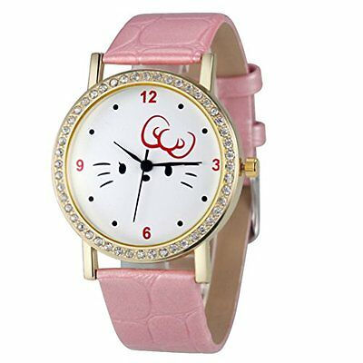Hello Kitty Crystal Face Watch Hello Kitty Pink Band Watch, HKW:26