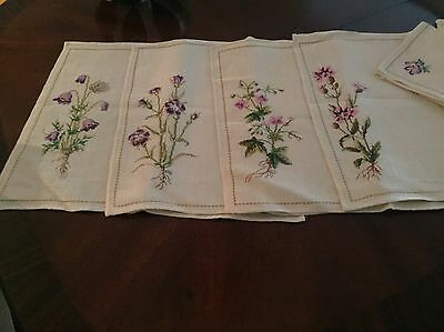 Vintage Never Used Hand Embroidered Placemats