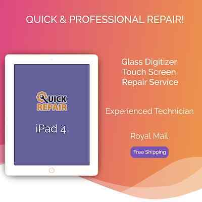 iPad 4 Glass Digitizer Touch Screen Replacement Repair Service
