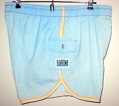 VINTAGE 70s 80s Light Blue LAGUNA SWIM SUIT - Mens LARGE 36-38