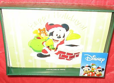 Disney - Mickey Mouse - 10 Holiday Greeting Cards With Envelopes