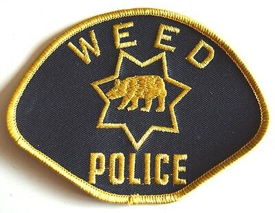 Weed Jacket Patch Badge Police Rare