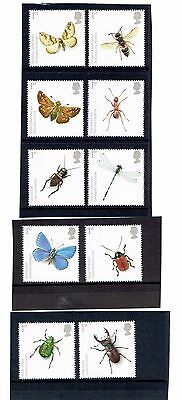 GB 2008 Insects. Set of 10 SINGLES. SG2831-2840, UnMounted Mint