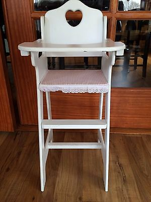 White Wooden Doll High Chair