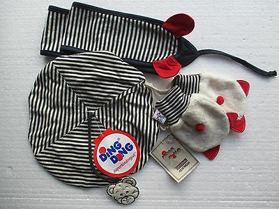 New (ex shop stock) baby hat, scarf and mit set  designer Ding Dong