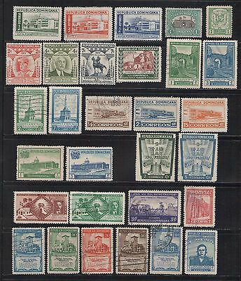 30 Dominican Republic Stamps 1911-1955 Fine Used