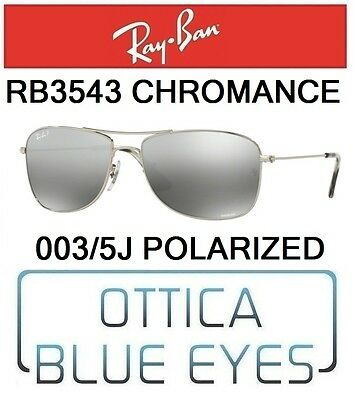 fd43ba70df Occhiali da Sole RAYBAN RB 3543 003 5J CHROMANCE Sunglasses Ray Ban  POLARIZED