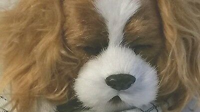 Perfect Petzzz Breathing Cavalier King Charles Spaniel Puppy Dog w/ Carrier