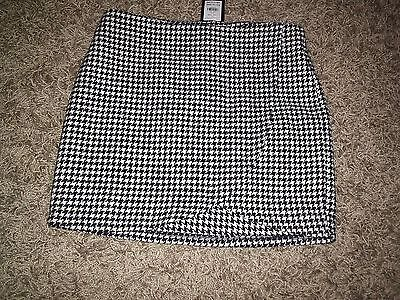 Smart Dogtooth Skirt 12-13 Years New With £12.99 Tags