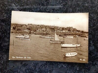 Old Postcard Of The Harbour At St Ives
