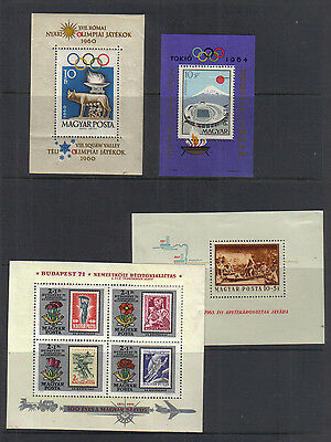 Hungary Four miniature sheets unmounted mint