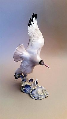 Beautiful Vintage German Hutschenreuther Porcelain Seagull - Repaired