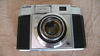 A ZEISS-IKON CONTINA PRONTOR-SVS 35mm FILM CAMERA WITH 1:2,8 F=45mm LENS & CASE