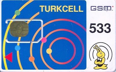 Turkey Turkcell Mint Gsm Sim Card Type 1