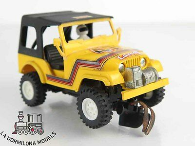 LMd192 - SCALEXTRIC SLOT - EXIN STS JEEP AMARILLO 4X4 #41
