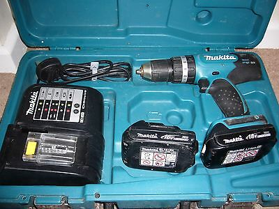 Makita BHP453 LXT 18V Li-Ion Combi Drill with 2 x Batteries
