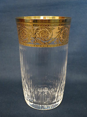 Saint - Louis  Thistle  Becherglas 24 carat Goldauflage,  11,5 cm