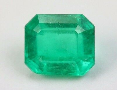 AAA QUALITY Emerald Cut 1.39 Ct Loose Fire Green Natural Colombian Emerald
