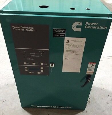 Cummings 225 Amp 480 Volt Automatic Transfer Switch