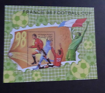 Afghanistan 1997 World Cup Football Championships MS  MNH UM unmounted mint