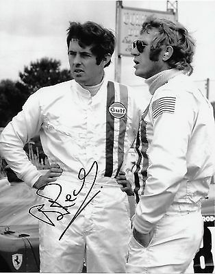 Le Mans Legend Brian Redman With Steve Mcqueen Signed Photo + Coa