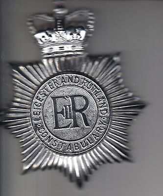 **obsolete** Leicester And Rutland Constabulary Police Helmet Plate Badge