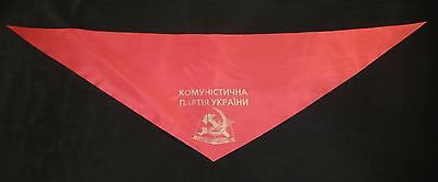 The Communist Party of Ukraine Red tie party member