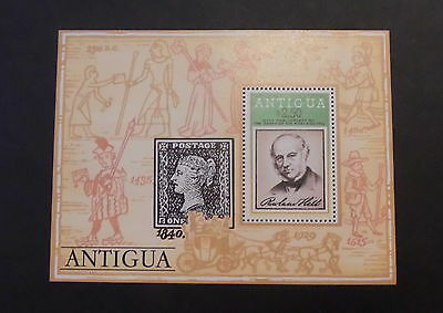 Antigua 1979 Death Cent Rowland Hill MS607 miniature sheet MNH UM unmounted