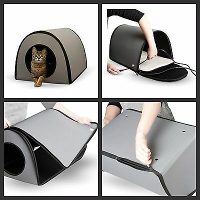 Cat Houses For Outdoor Cats Heated Small Ferrell Cat House Winter Shelter