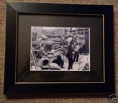 "The Beatles' Rooftop Concert Photo Framed - Signed Louise ""Lou"" Harrison"