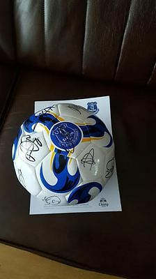 Signed Everton football