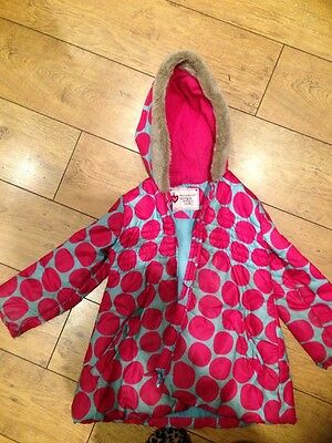 Girls Warm Winter Coat M&S 6-7