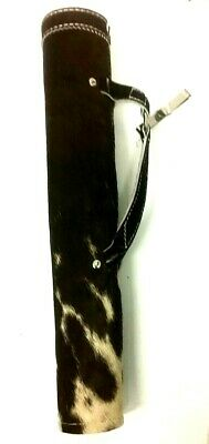 Target Real Cow Hair Leather Side / Hip Arrow Quiver Archery Products Aq-113 H