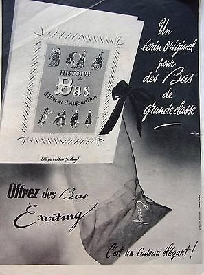 page de publicité  BAS EXCITING   en 1953   ref. 40932