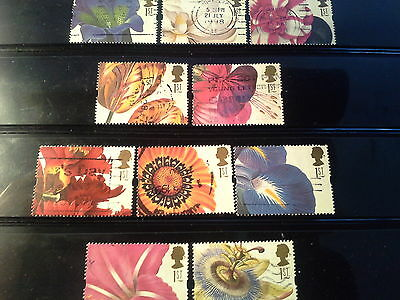 GB QEII Stamps 1997 19th Century Flower Paintings Greetings Stamps Used (S10)