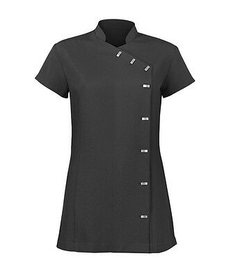 Ladies Alexandra Beauty Spa Hairdressing Tunic  Size 10 Black B2AD