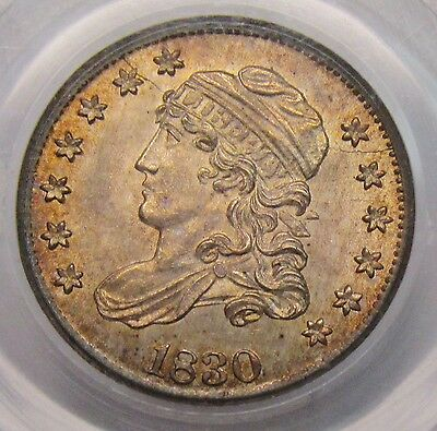 1830 Capped Bust Half Dime PCGS MS-61 Well Struck