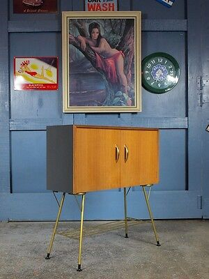 Retro Vintage Mid Century 50s/60s Atomic T.V. Drinks Cocktail Cabinet Side Table